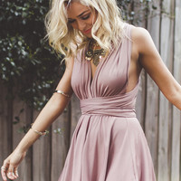 Addicted To Love Dress Mocha
