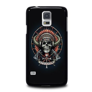 AFFLICTION INDIAN SKULL Samsung Galaxy S5 Case Cover