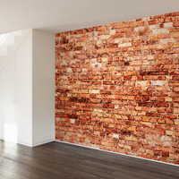 Brick Exterior Wall Mural Decal