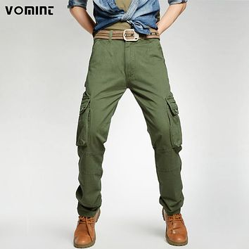 Men Army Pants Tactical cargo pants Casual sweatpants trousers Solid Color