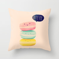 Bite Me Throw Pillow by Nan Lawson