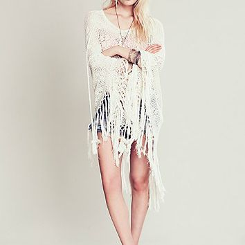 Spell Womens Lola Tassel Poncho - Natural One