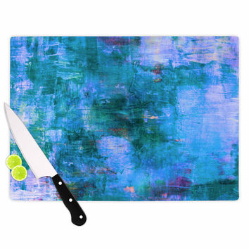 "Ebi Emporium ""The Reef"" Blue Teal Cutting Board"