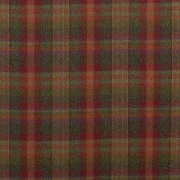 Mulberry Fabric FD699.V156 Country Plaid Red/Lovat/Heather