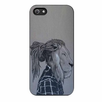 Rock Rasta Reggae Bob Marley Beads Dreadlock African Lion iPhone 5/5s Case