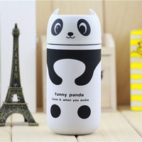 1PC Design Portable Cute Panda Thermos 220ML Stainless Steel Vacuum Cup Kids Water Bottle Free Shipping NG4S