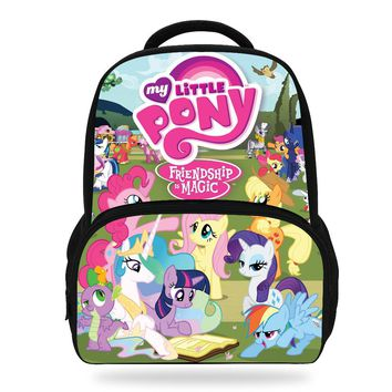 14Inch Hot Sale My Little Pony Backpack For School Girls Bags Children Print Backpacks For Teenagers