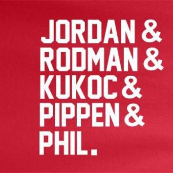 Red ampersand Chicago Bulls Michael Jordan Scottie Pippen Kukoc Fan Tee Tshirt T-Shirt