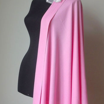 Rose Pink Shawl, Candy Pink Solid Color Soft Pashmina, Pink Wedding Shawl, Cashmere Silk Wrap, Bride Bridal, Bridesmaid Gift, Flower Brooch