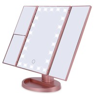 Tri-Fold 22 LED Touch Screen Makeup Mirror
