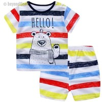 2018 Newborn Baby Boy Cotton Clothes Set