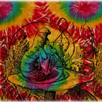 Alice In Wonderland Tie-Dye Tapestry