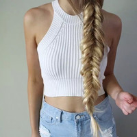 Knitted Bustier Crop Top