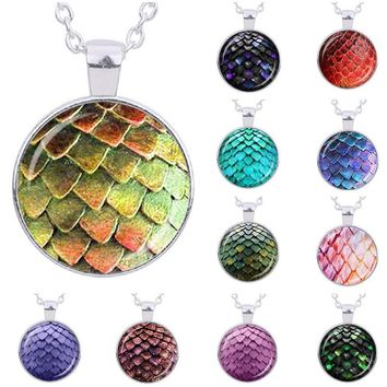 Glass Dome Dragon Egg Necklace