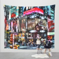 Times Square New York Wall Tapestry by Haroulita!! | Society6