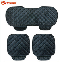 Front and Back Seat Cover Set - Universal Quality Soft Silk Velvet Car eats Cushion For Front Back Seat Chair  Interior Accessories