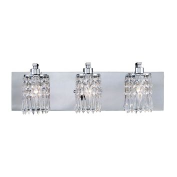 11230/3 Optix 3 Light Vanity In Polished Chrome And Leaded Crystal Glass - Free Shipping!