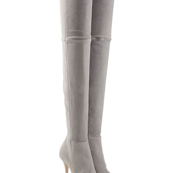 Balmain - Suede Thigh-High Boots
