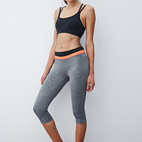 Colorblocked Yoga Capri Leggings