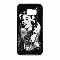 Marilyn Monroe Tattooed Flower With Pistol Gun Samsung Galaxy S6 Case