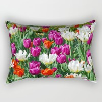 Flowers field Rectangular Pillow by Claude Gariepy