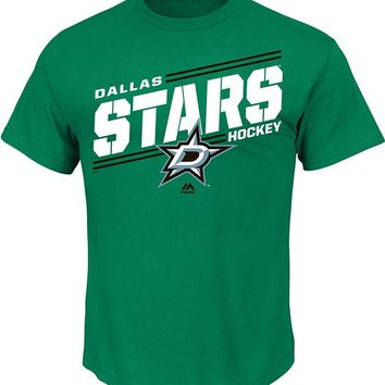Mens Dallas Stars Majestic Green Home Ice Advantage T-Shirt