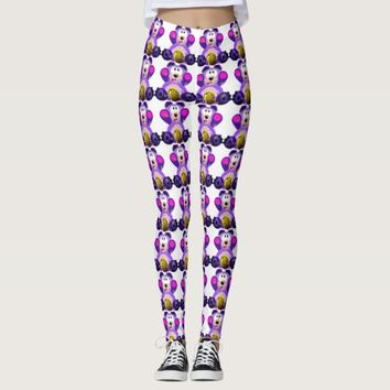 colorful teddy-bear leggings
