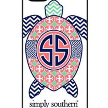Simply Southern Preppy Phone Case for iPhone 5 in White Turtle
