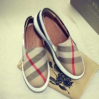 Burberry Slip-On Women Fashion Flats Shoes