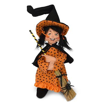 Annalee Dolls 9in 2018 Halloween Spider Witch Plush New with Tags