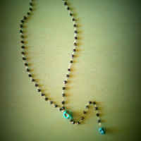 Sugar Skull Rosary Necklace - Day of the Dead Inspired