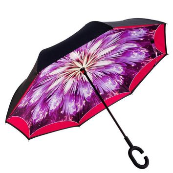 Ceiourich High Quality Car Reverse Umbrellas Rain Women Men Uv Protection Windproof Sunny Rainy Customized Umbrella-001