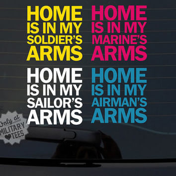 Custom Military Car Decal, Army, Air Force, Navy, Marines, Coast Guard, Wife, Mom, Girlfriend, Sister