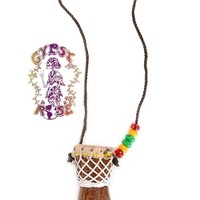 SMALL DJEMBE DRUM NECKLACE: Gypsy Rose