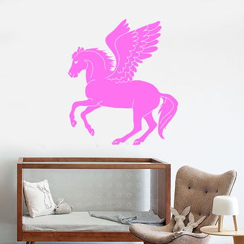 Wall Stickers Vinyl Decal Pegasus Winged Horse Fantasy Mythical
