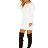 Naked Wardrobe Lettin' Knit Go Sweater Dress