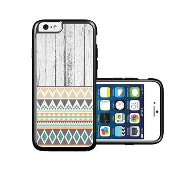 RCGrafix Brand White Wood Aztec iPhone 6 Case - Fits NEW Apple iPhone 6