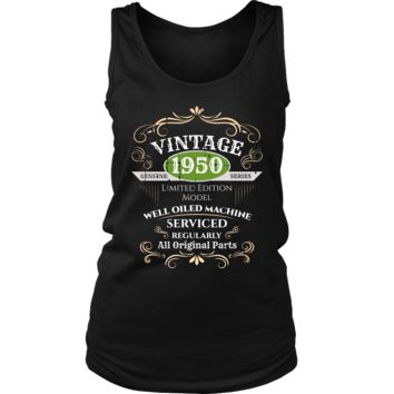 Women's Vintage 1950 68th Birthday Tank Top Gift