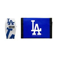 Los Angeles Dodgers Lil' Sport Watch & Trifold Wallet Gift Set - Kids (Lad Team)