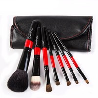Professional Makeup Brushes Set 7pcs Animal Hair PU Leather Bag Make up Tools Horse Hair Eyeshadow cosmetic Kit foundation brush