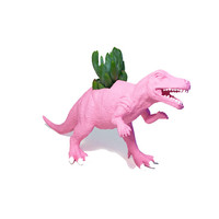 Up-cycled Baby Pink Allosaurus Dinosaur Planter