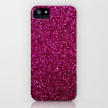 Pink Glitter iPhone & iPod Case by Sara Eshak