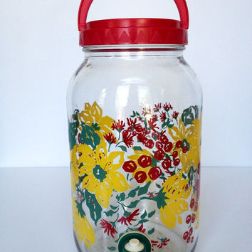 Vintage Glass Sun Tea Jug Dispenser