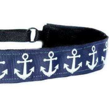 Navy Anchors Headband
