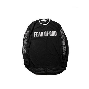 Fear Of God Hoodies Men Women 1:1 Justin Bieber Apricot Fear Of God Sweatshirt KANYE WEST Hip Hop Fear Of God Hoodie SK Pullover