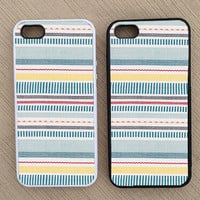 Cute Geometric Abstract Striped iPhone Case, iPhone 5 Case, iPhone 4S Case, iPhone 4 Case - SKU: 137