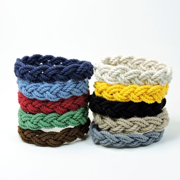 Narrow Sailor Bracelet, Nautical Colors