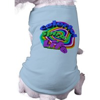 Colorful Spiral Life Doggie T Shirt