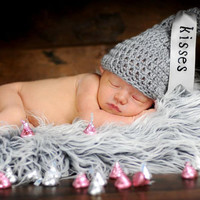 Newborn Crochet HERSHEY KISS Hat Photography Prop