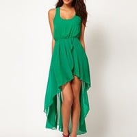 Love Chiffon Wrap Hi Lo Dress at asos.com